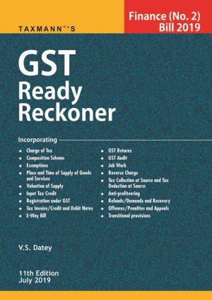 Buy Direct Tax and GST Ready Reckoner for 2019