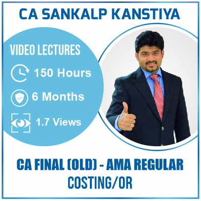 CA Final AMA Old Course Video Lecture by CA Sankalp Kanstiya