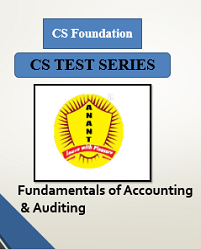 CS Foundation Fundamentals of Accounting & Auditing Test Series By Anant Institute