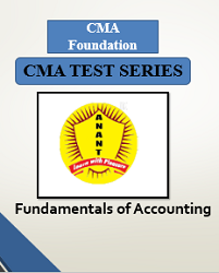 CMA Foundation Fundamentals of Accounting Test Series By Anant Institute
