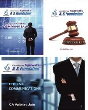 CA IPCC LAW, ETHICS & COMMUNICATION - 3 BOOKS By CA Vaibhav Jai