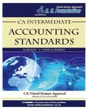 CA INTER ACCOUNTING STANDARDS - NEW SYLLABUS (GROUP - I) BOOK By Vinod kumar Agarwal