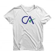Round Neck White Color Half Sleeve T-Shirt For CA Student