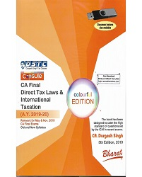 CA FINAL DIRECT TAX LAWS & INTERNATIONAL TAXATION BY DURGESH SINGH (OLD & NEW SYLLABUS) FOR MAY & NOV. 2019 EXAM