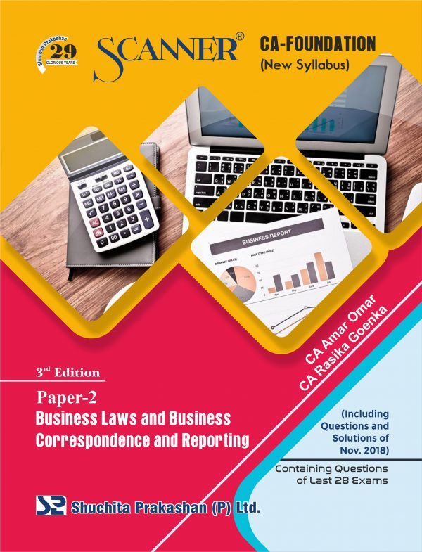 CA Foundation Solved Scanner Paper - 2 Business Laws and Business Correspondence and Reporting Regular Edition