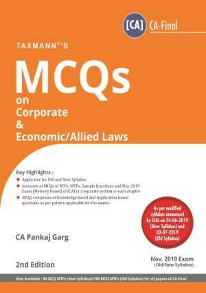 CA Final Corporate & Economic /Allied Laws Multiple Choice Questions old and New Syllabus By Pankaj Garg