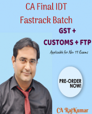 CA Final Indirect Tax – Fastrack By CA Rajkumar
