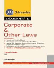 CA Intermediate Corporate & Other Laws by Tejpal Sheth