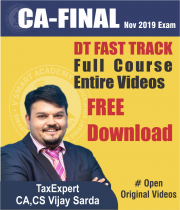 CA Final Direct Tax Fast Track Full Course Video Lectures By CA Vijay Sarda