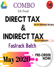 CA Final Direct Tax and Indirect Tax – Fastrack Batch (COMBO) By CA Bhanwar Borana and CA Rajkumar