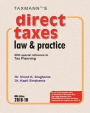 Direct Taxes Law & Practice by CA Vinod K Singhania & Kapil Singhania