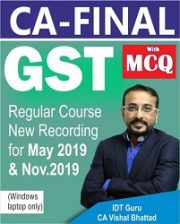 CA Final GST Regular Video Lectures By CA Vishal Bhattad