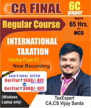 CA Final International Taxation Elective Paper 6C Full Course Video Lectures By CA Vijay Sarda