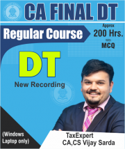 CA Final Direct Tax Regular Full Course Video Lectures By CA Vijay Sarda