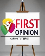 CA FINAL - GROUP 2 COMBO Old Syllabus (4 Subjects) Test Series by First Opinion