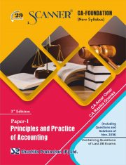 CA Foundation Solved Scanner Paper - 1 Principles and Practice of Accounting Regular Edition