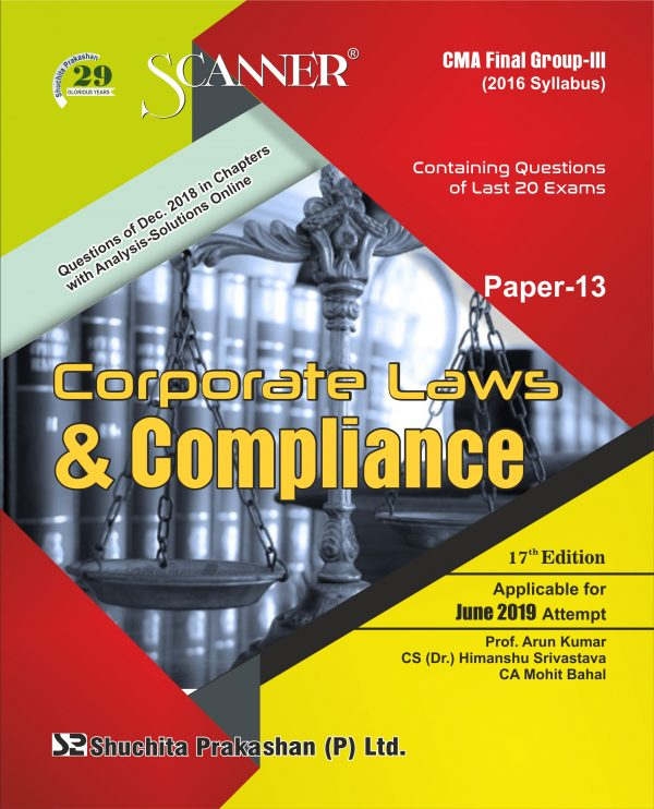 CMA Inter Scanner Group - II (2016 Syllabus) Paper-13 Corporate Law & Compliance Regular Edition