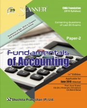 CMA Foundation Scanner (2016 Syllabus) Paper-2 Fundamentals of Accounting Regular Edition