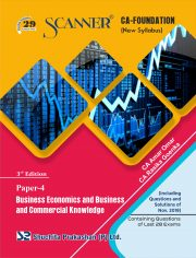 CA Foundation Solved Scanner Paper - 4 Business Economics and Business and Commercial Knowledge Regular Edition