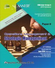 CMA Inter Scanner Group - II (2016 Syllabus) Paper-9 Operations Management & Strategic Management Regular Edition