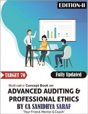 CA Final Advanced Auditing & Professional Ethics New & Old Syllabus Concept & Question COMBO BOOK By CA Sanidhya Saraf