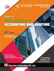 Scanner CS Foundation Programme (2017 Syllabus) Paper - 4 Fundamentals of Accounting and Auditing Regular Edition