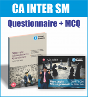 CA INTER IPC STRATEGIC MANAGEMENT (SM) QUESTIONNAIRE+MCQ+CHARTS BOOKS BY CA VIJAY SARDA