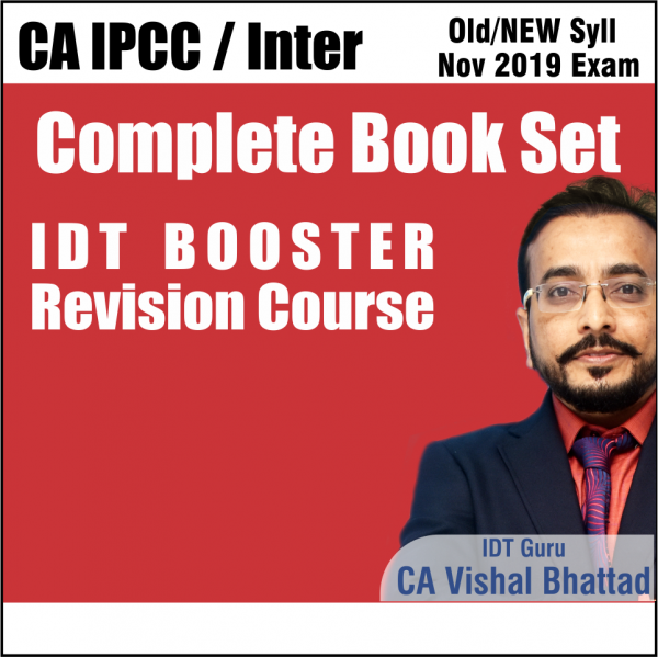 CA INTER IDT GST FAST TRACK BOOSTER REVISION COMPLETE BOOK SET BY CA VISHAL BHATTAD