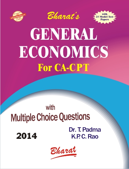 CA CPT GENERAL ECONOMICS (for CA CPT) by Dr. T. Padma & K.P.C. Rao
