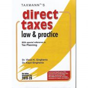 CA FINAL DIRECT TAXES LAW & PRACTICE BY VINOD K SINGHANIA & KAPIL SINGHANIA