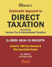 CMA Inter Systematic Approach to DIRECT TAXATION by Dr. Girish Ahuja & Dr. Ravi Gupta