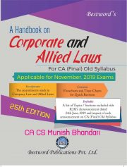 CA FINAL HANDBOOK ON CORPORATE AND ALLIED LAWS BY MUNISH BHANDARI