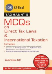 CA Final MCQs on Direct Tax Laws & International Taxation old and New Syllabus By Arinjay Jain