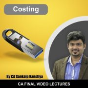 CA Final Only Costing Old Course Video Lecture by CA Sankalp Kanstiya