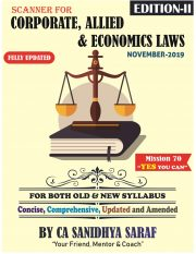 CA Final Corporate and Allied /Economic Laws-Scanner By CA Sanidhya Saraf