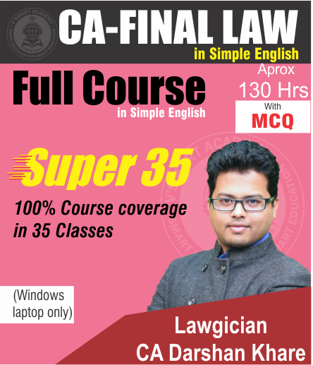 CA FINAL LAW FULL COURSE – IN SIMPLE ENGLISH by CA Darshan Khare