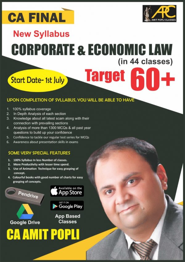 CA Final Corporate & Economic Laws New Syllabus Video Lectures by CA Amit Popli