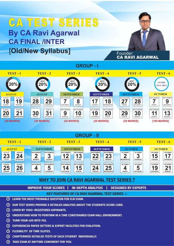 CA FINAL Full Group I Old/New Syllabus Test Series by CA Ravi Agarwal