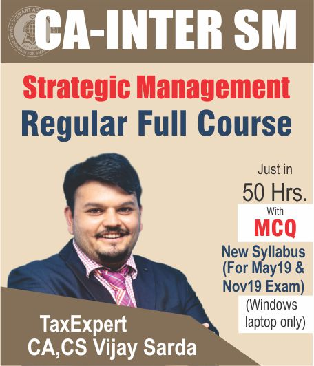 CA Inter Strategic Management Regular Full Course Video Lectures By CA Vijay Sarda