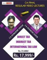 CA Final Combo DT, IDT & ITL Video Lectures by CA Durgesh Singh & CA Mahesh Gour