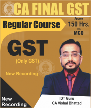 CA Final GST Video Lectures By CA Vishal Bhattad