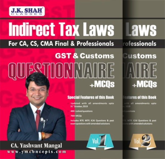 CA Final Indirect Tax Questionnaire + MCQs Book by CA Yashvant Mangal