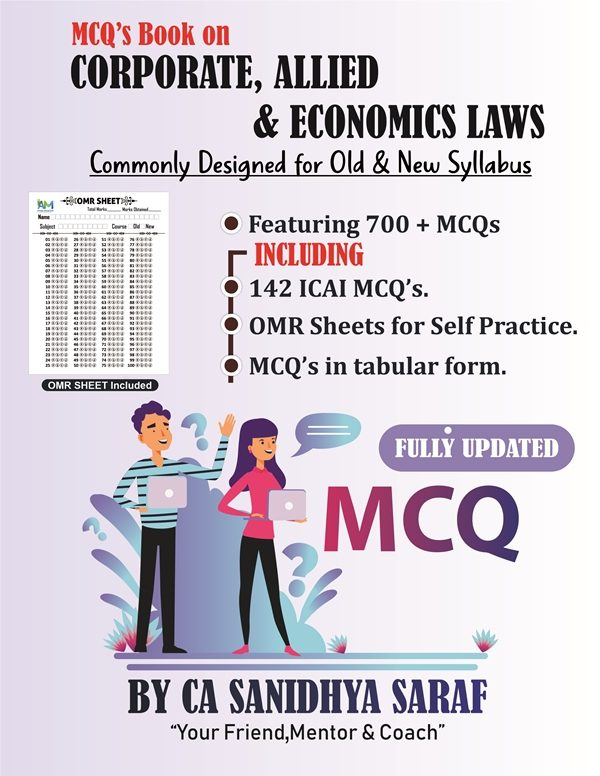 CA Final Law MCQ Book ( Old/New Course ) By CA Sanidhya Saraf