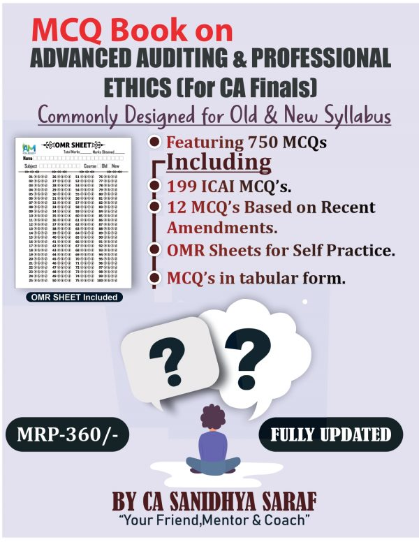 CA Final Audit MCQ Book ( Old/New Course ) By CA Sanidhya Saraf