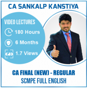 Ca Final SCMPE Regular Full English Video Lecture By CA SANKALP KANSTIYA