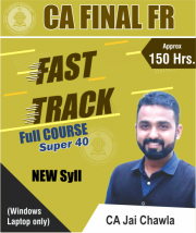 CA Final FR Fasttrack (New Course) Video Lectures by CA Jai Chawla