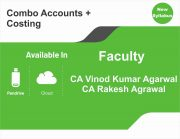 CA Inter Accounts + Costing (Regular Course) Combo BY CA Vinod Kumar Agarwal, CA Rakesh Agarwal