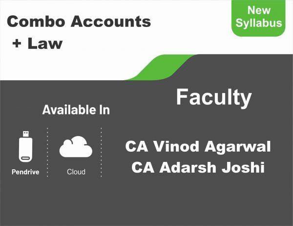 CA Inter Accounts + Law (Regular Course) Combo BY CA Vinod Kumar Agarwal, CA Adarsh Joshi