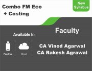 CA Inter FM & ECO + Costing (Regular Course) Combo BY CA Vinod Kumar Agarwal, CA Rakesh Agrwal