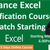 Register for 5 Days Excel Certification Course